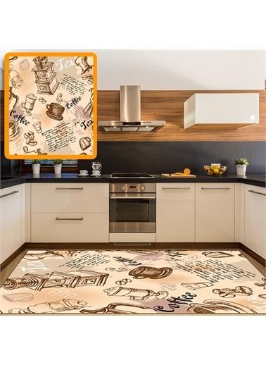 Halı Türk Kahvesi Desenli Dekoratif Mutfak Halıları 80X150Cm Renkli